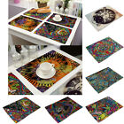 Indian Ethnic Rectangle Insulation Bowl Placemat Coasters Western Table Mat New