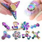 Rainbow Hand Fingertip Tri Spinner Fidget Toy EDC Focus Autism Anti Anxiety Toys