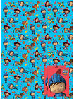 2 Sheets Mike The Knight Gift Wrap Paper with Tags Kids Brthday Event Funny Wrap