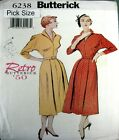 Butterick Sewing Pattern 6238 Ladies 8-12 Retro 50s Kimono Sleeve Full Dress