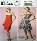 Butterick Sewing Pattern 6019 Ladies 12-20 Gertie Retro Strapless Dress