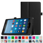 For All-New Amazon Fire HD 8 (7th Gen) 2017 Case PU Leather Folio Standing Cover