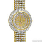 Gold Iced Out Orbit Baguette Stones Luxury Watch
