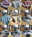 Large Modern Bright Vibrant Colours Soft Thick Medium Rug Mats Cheap Grey Rugs