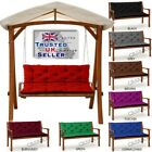 Waterproof Replacement Cushion 1-4Seater for Garden Swing Bench Chair Seat+Back
