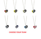 NHL Hockey Swirl Heart Necklace Pick Your Team $7.49 USD on eBay