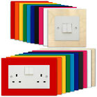 STANDARD Light Switch Plug Socket Surround - Colour Acrylic Plywood Finger Panel