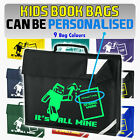 IT'S ALL MINE - Kids School Book Bag - Optionally Personalised