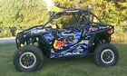 2015 2016 RZR 900 graphics wrap kit OEM or Pro Armor Doors Digital Camo Blue