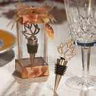 Autumn Leaf Wine Bottle Stoppers Fall Themed Wedding Favors -  16-100 Qty