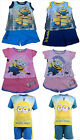 Minion Short & T-Shirt Set Outfit Minions Boys Girls Summer Age 2-8Y Character