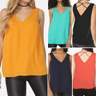 Fashion Women Summer V Neck Sleeveles Tank Tops Vest Casual Loose T-Shirt Blouse