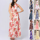 Womens Ladies Floral Printed Maxi Chiffon Long Dress Evening Party Cocktail New