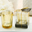 Gold Candle w/ Geometric Design - Wedding Party Favor 25-96 Qty