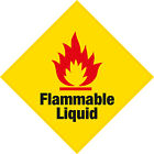 2 x Flammable Liquid Vinyl Sticker LARGE Health and Safety Home Business Shop