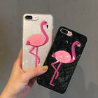 Silicone Glitter Powder Flamingo Protective Case Cover For iPhone 6/6s 6p/6sp 7p