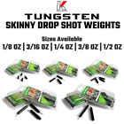 Внешний вид - Tungsten Skinny Drop Shot Weights - Bass Fishing, Finesse Fishing FREE SHIPPING!