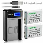 NB-13L Battery & LCD Slim Charger for Canon PowerShot SX620 HS, SX720 HS, G7 X