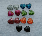 Sparkly hearts studs earrings in 7 different colours with stoppers