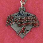 Atlanta Braves Necklace - Pewter Charm on Chain Pro MLB Baseball Logo NEW on Ebay