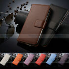 Genuine Real Leather Flip Wallet Case Card Slot Cover For Samsung Galaxy S5