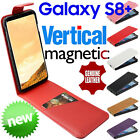 Galaxy S8 Plus Genuine Leather VERTICAL Flip MAGNETIC Case Cover Card Samsung