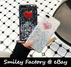 Glitter Little Foil Chic Heart Transparent TPU Cover Case for iPhone 6/6S/7 Plus