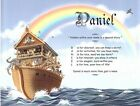 Noah's Ark Personalized Name Meaning Children's Print with 5 Background Options