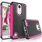 For LG Phoenix 3 / K4 2017 Shockproof Armor Rugged Rubber Sturdy Case Cover