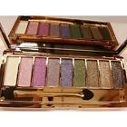 9 colors Waterproof Makeup Eyeshadow Glitter Palette with Brush CaF802