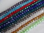 8x6mm Strand of Faceted Crystal Glass Rondel Beads