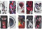 10pcs/lot Stand Cover Wallet PU Leather Case w Lanyard For Samsung iPHone Huawei