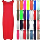 Womens Ladies High Waist Slit HiLo Back Side Split Shell Long Midi Dress Top