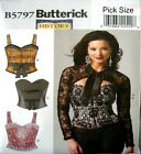 Butterick Sewing Pattern 5797 Ladies 6-14 Corset Bustier Bodice Top Costume