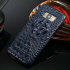 Real Genuine Cowhide Leather 3D Crocodile Cover Case For Samsung Galaxy S8 Plus