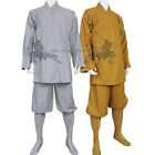 Shaolin Monk Kung fu Uniform Buddhist Robe Meditation Farming Tai chi Suit