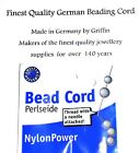 Griffin Beading cord thread FITS 1MM HOLES 0.8mm No.8 NylonPower With needle