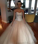 Crystal Beaded Ball Gowns Quinceanera Dress Sweetheart Prom Party Sweet 16 Dress