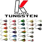 TUNGSTEN JIGS - 3MM SIZE 16 Hook (MANY COLORS!) KENDERS OUTDOORS - ICE FISHING