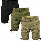SoulStar Mens Crayton Cargo Combat Casual Summer Shorts Reduction Sale