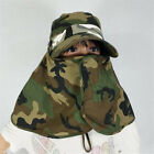 Woman Face Protected Summer Wide Brim Sun Hat Men's Foldable Outdoor Riding Cap