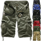 Men Military Combat Camo Cargo Shorts Pants Work Casual Army Trouser Quality AU