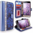 For Samsung Galaxy J3 Amp Prime (2016) PU Leather Wallet Flip Stand Case Cover