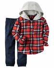 Carters 18 Months 2T 3T 4T 5T Flannel Shirt & Terry Pants Set Toddler Boy