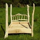 Driftwood Four Poster Bed, stunning handmade wooden bed, made from unique Welsh
