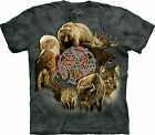 Animal Spirit Circle T Shirt Adult Unisex The Mountain