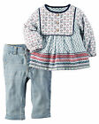 Carters 3 6 24 Months Printed Tunic & Jeans Set Baby Girl Clothes