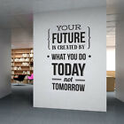 Your Future is Created by What you do Today not Tomorrow - Company Office, Corpo
