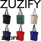 ZUZIFY Cotton Canvas Heavy Duty Book Tote Bag. OM0763
