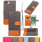 Flip PU Leather Wallet Fashion Stand Cover Skin Case For Samsung & iPhone Bumper